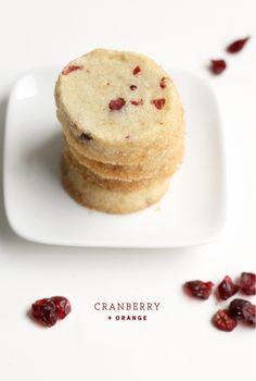 Icebox cookies -Cranberry Orange vs. Rosemary Orange. By thefauxmartha