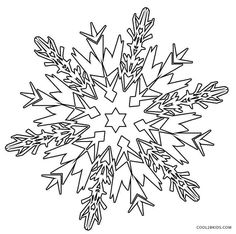 Terrible image with snowflakes coloring pages printable
