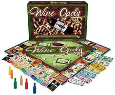 So it's like the classic Monopoly game, but with a wine theme. Even better! You can learn about wine while you play, and of course, drink! I Want One!