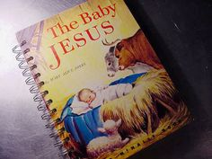 the BABY JESUS Journal Notebook CHRISTMAS by theChineseLaundry