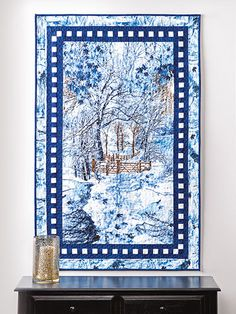 """Quilt - Exclusively Annie's Winter in the Woods Quilt Pattern - #886136 ~ BEGINNER ~ 34.5"""" x 51.25"""" ~ beautiful scene ~ QUILTING"""