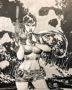 Lara Croft - Tomb Raider by Jim Lee * Comic Book Artists, Comic Artist, Comic Books Art, Comic Character, Character Design, Jim Lee Art, Lara Croft, Art Studies, Sketches