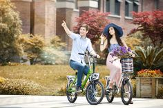 onway e-bike electric bicycle electric vehicle ride scenery Bike Electric, Electric Vehicle, Baby Strollers, Hot Girls, Scenery, Green, Model, Travel, Outdoor