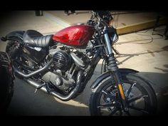 2017 Harley-Davidson Sportster 883 Iron XL883N Hot Red Flake - YouTube