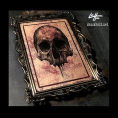 Skull  Original Drawing  Skulls Skeleton Dark Art by chuckhodi, $55.00