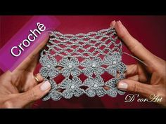 Bata em crochet Pérolas do crochet Modelo Le Lis - YouTube