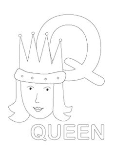 Q Is For Queen Coloring Page 1000+ images about Q ....