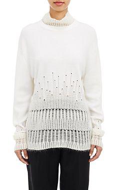 3.1 Phillip Lim Mixed-Knit Sweater - Turtleneck - Barneys.com