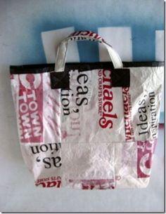 Reutilize sacolas plásticas fundindo para fazer uma eco-bag, passo-a-passo   Vila do Artesão