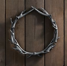 Weathered antler wreath.