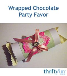 Turn an ordinary pack of Ferrero Raffaello chocolates into a delicate little party favor. This party favor will be great for a ladies' tea party, and can also be used as a small gift for a kitchen tea or baby shower. Here is how to make this party favor. Wedding Crafts, Diy Wedding, Raffaello Chocolate, Small Gifts, Tea Party, Party Favors, Delicate, Gift Wrapping, Baby Shower