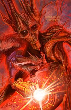 Guardians of the Galaxy: Groot and Rocket by SpookyChan.deviantart.com on @DeviantArt