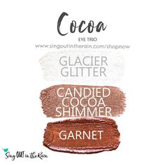 Cocoa Eye Trio just screams FALL & uses three SeneGence ShadowSense : LIMITED EDITION Glacier Glitter, LIMITED EDITION Candied Cocoa Shimmer and Garnet. These creme to powder eyeshadows will last ALL DAY on your eye. #shadowsense #trio #shadowsensetrio #e