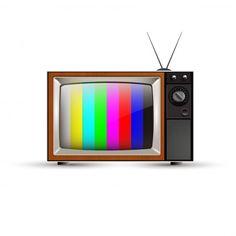 Televisión vintage   Descargar Vectores Premium