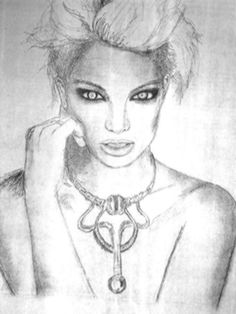 A rare picture of Britney Spears that I sketched, Fiery Eyes. #art