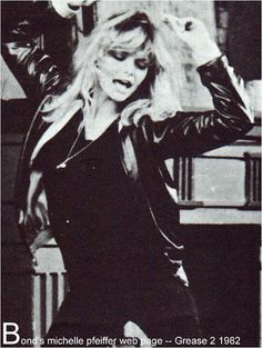My number 1 girl, Michelle Pfeiffer as Stephanie Zinone in Grease 2 Grease 2, Michelle Pfeiffer, Physical Comedy, Pink Ladies, Biological Father, Hero's Journey, Latest Music, I Movie, 80s Movies