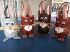 Tuxedo Easter Basket for boys, - Tuxedo Easter B . Easter Art, Easter Crafts For Kids, Easter Bunny, Diy For Kids, Basket Crafts, Plastic Bottle Crafts, Easter Baskets, Images, Bottle Crafts