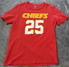 KANSAS CITY CHIEFS JAMAAL CHARLES  25 NFL Red T-Shirt Football Tee Boys  Large 8bdcad0ac