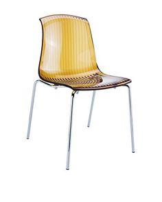 Officine Fiam stoel set van 2 Allegra geel