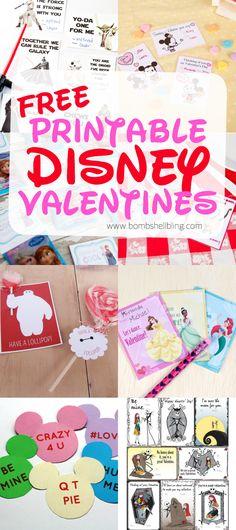 FREE Printable Disney Valentines - Bombshell Bling