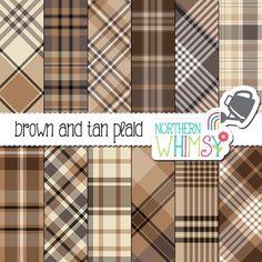 Masculine Brown & Tan Plaid Patterns