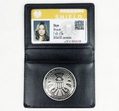 Official Marvel Agents of S.H.I.E.L.D. Shield Badge ID Skye Holder Wallet-D492