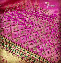 Wedding Saree Blouse Designs, Best Blouse Designs, Simple Blouse Designs, Blouse Neck Designs, Sleeve Designs, Embroidery Works, Aari Embroidery, Maggam Work Designs, Embroidery Fashion
