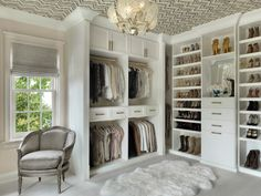 10 Places to Use Paint or Wallpaper to Create a Fun Design Moment Master Closet Design, Walk In Closet Design, Master Bedroom Closet, Closet Designs, Diy Walk In Closet, Shoe Closet, Build A Closet, Wardrobe Design, Closet Space