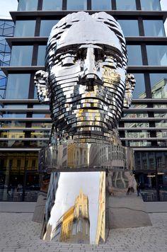 Rotating 42-Layer Sculpture of Franz Kafka