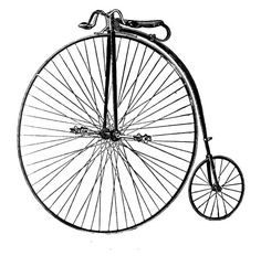 Free Clip Art - Old Fashioned Bicycle - The Graphics Fairy