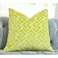 Chartreuse Gometric Modern Pillow Cover Citrine Velvet Solid Lime Cut... ($45) ❤ liked on Polyvore featuring home, home decor, throw pillows, decorative pillows, home & living, home décor, silver, modern throw pillows, velvet throw pillows and lime green accent pillows