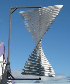 Helical Vawt, A PVC bladed type of helical wind turbine Instructable; diy