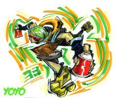 Jet Set Radio Yoyo.