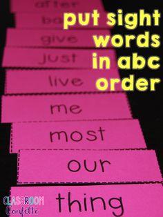 Classroom Confetti: 6 Ways to Use Sight Word Flash Cards. Plus FREE Sight Word Flash Cards!