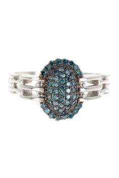 Blue Diamond Ring - 0.35 ctw. So pretty