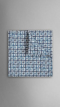 Painted Check Pocket Square | Burberry ($110)