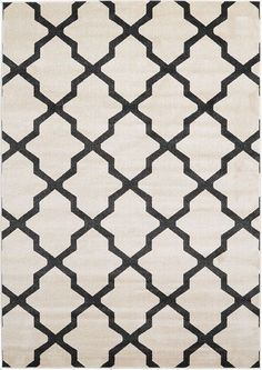 This Turkish Trellis rug is made of Polypropylene. This rug is easy-to-clean, stain resistant, and does not shed. Colors found in this rug include: Beige, Black. The primary color is Beige. Trellis Rug, Trellis Pattern, Contemporary Area Rugs, Beige Area Rugs, Ivory Rugs, Online Home Decor Stores, Throw Rugs, Rug Size, Bohemian Rug