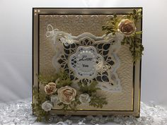 Drakes Field Cards: Love You Sue Wilson Dies, Clematis Flower, Die Cut Cards, May Flowers, Pretty Cards, Greeting Cards Handmade, Drake, I Card, Wedding Cards