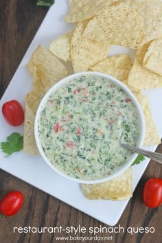 Spinach Queso Dip | Bake Your Day