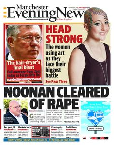 The front page of the south edition of the Manchester Evening News on Tuesday, October 22.