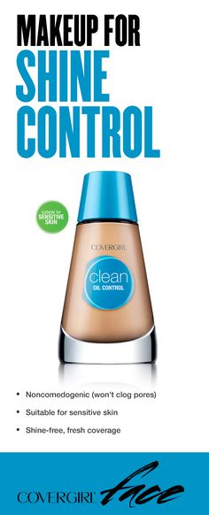 The ideal shine control makeup looks natural, not flat or cakey, on skin. Made with ultra light oil-absorbers and gentle skin conditioners, our Clean Oil Control Makeup gives supreme shine control without drying the skin. • Noncomedogenic (won't clog pores) • Suitable for sensitive skin • Shine-free, fresh coverage