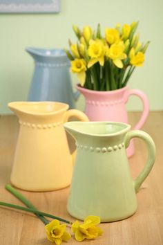 Pastel Ceramic Jug by The Contemporary Home