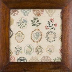 Needleprint needlework embroidery quaker school girl ackworth judith hayle tokens of love samplers antique goodhart montacute edwina ehrman ...