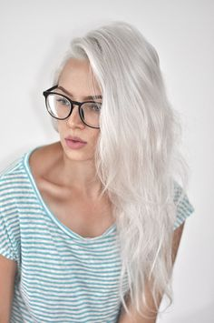 Want perfect silver hair but without all the upkeep? Silver Blonde Hair, Platinum Blonde Hair, Gray Hair, Blue Hair, Lilac Hair, Silver Platinum Hair, Blonde Bob, Long Silver Hair, Silver White Hair
