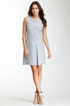 Tweed Sleeveless Dress Nice Dresses, Dresses For Work, Working Woman, Tweed, Clothes, Women, Style, Fashion, Outfits