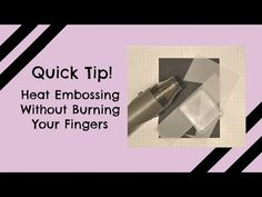 Quick Crafting Tip - Heat Emboss Without Burning Your Fingers.   Stampin' Up!, card, paper, scrapbook, craft, rubber, stamps, Heat Tool, Heat Gun, embossing powder, vellum, cardstock, technique, organization, storage, www.lisasstampstudio.com