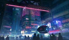 ArtStation - Cyberpunk Taipei, Daniel Liang