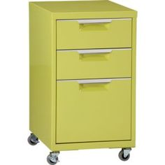 Chartreuse Filing Cabinet at CB2