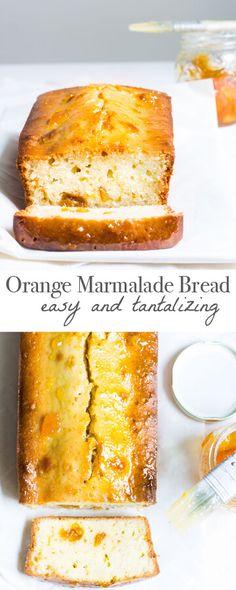 Orange Marmalade Bread: a quick, one-bowl recipe that tastes amazing! Recipe via MonPetitFour.com