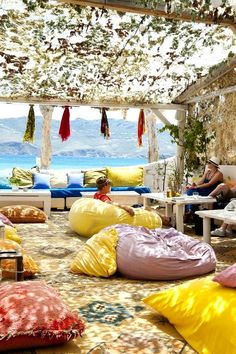 Panormos Beach Bar in Mykonos, Greece one of the most beautiful islands - other than Martha's Vineyard of course!